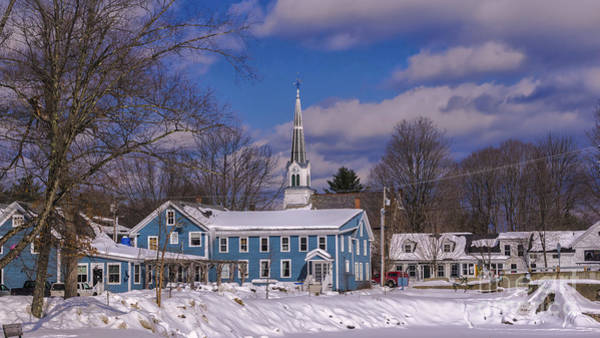 Waitsfield Photograph - Winter In Waitsfield Vermont. by New England Photography