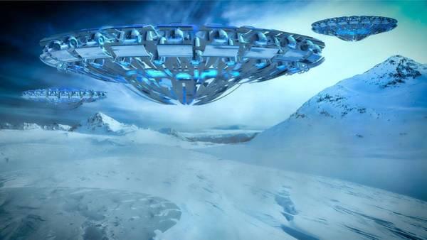 Ufo Digital Art - Winter Invasion By Raphael Terra by Raphael Terra
