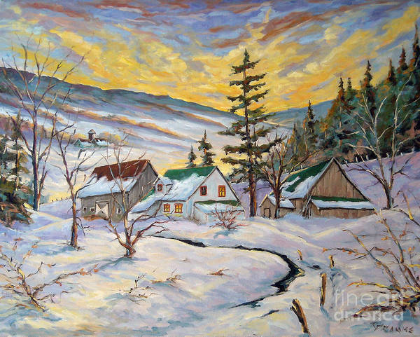 Wall Art - Painting - Winter Lights by Richard T Pranke