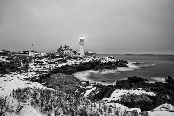 Photograph - Winter Morning At Portland Head Light by Jesse MacDonald