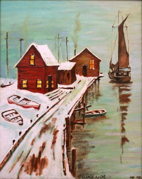 Wall Art - Painting - Winter Sail by Gloria M Apfel