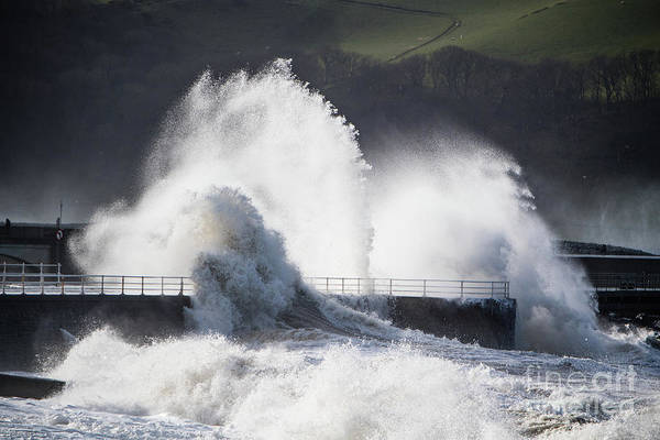 Photograph - Winter Storm In Aberystwyth Wales by Keith Morris