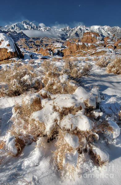Photograph - Winter Sunrise Alabama Hills Eastern Sierras California by Dave Welling