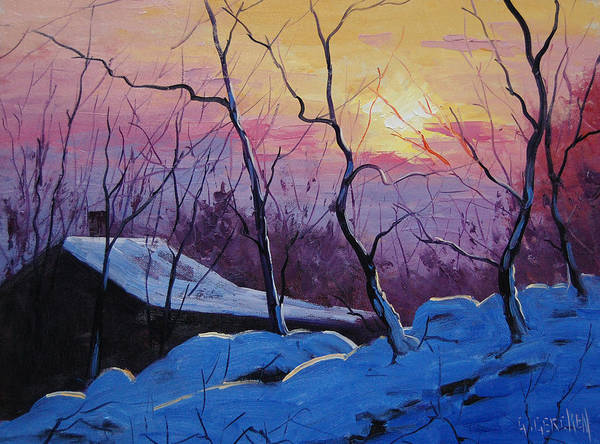 Wall Art - Painting - Winter Sunrise by Graham Gercken