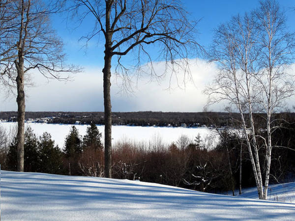 Photograph - Winter View Of Sister Bay by David T Wilkinson