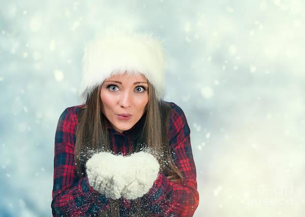 Knit Hat Photograph - Winter Wonderland by Amanda Elwell