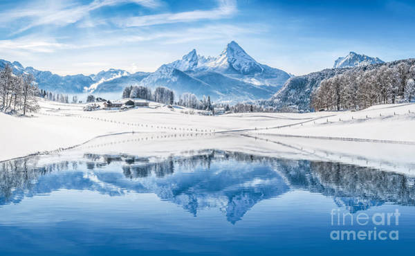 Wall Art - Photograph - Winter Wonderland In The Alps by JR Photography