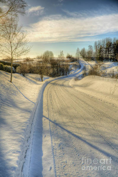 Finland Photograph - Wintry Road by Veikko Suikkanen