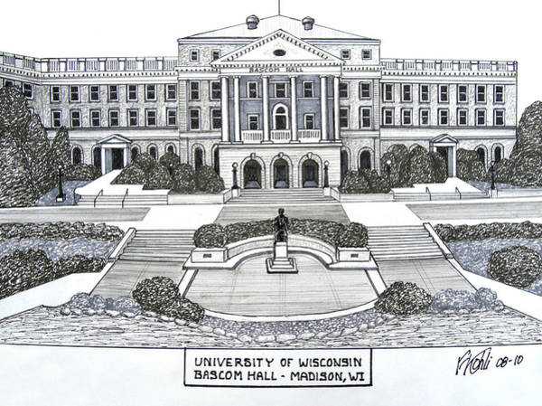 Wall Art - Drawing - Wisconsin by Frederic Kohli