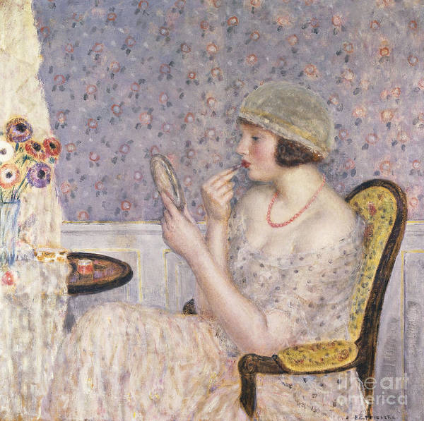 Wall Art - Painting - Woman At A Dressing Table by Frederick Carl Frieseke