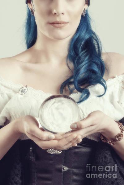 Wall Art - Photograph - Woman Holding Crystal Ball by Amanda Elwell