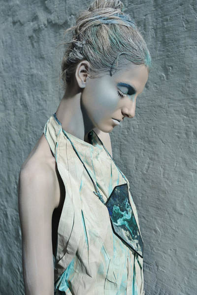 Hammamet Photograph - Woman In Ash And Blue Body Paint by Veronica Azaryan