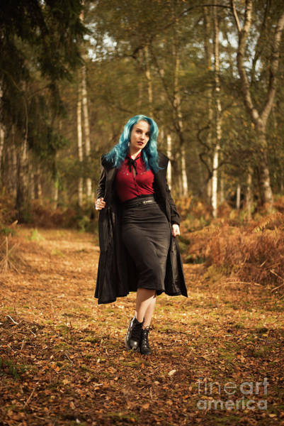 Wall Art - Photograph - Woman In Autumn Woodland by Amanda Elwell
