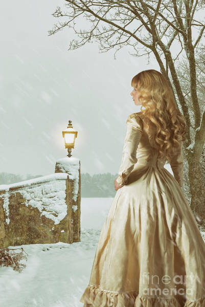 Wall Art - Photograph - Woman In Snowy Landscape by Amanda Elwell