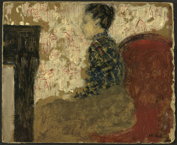 Painting - Woman Sitting By The Fireside by Edouard Vuillard