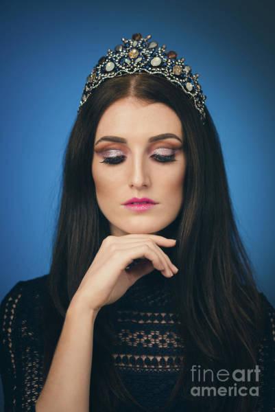Wall Art - Photograph - Woman Wearing A Crown by Amanda Elwell