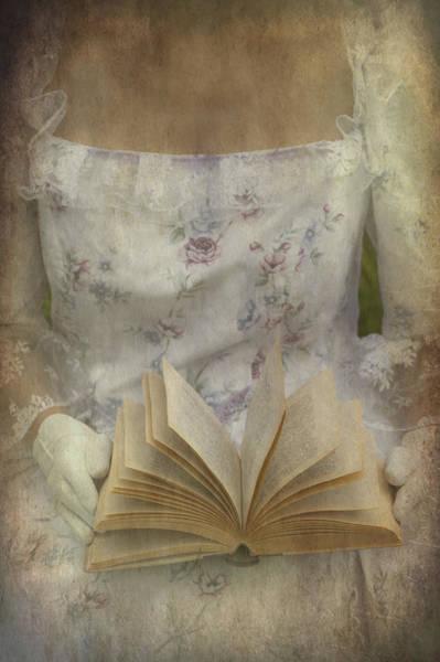 Elizabethan Wall Art - Photograph - Woman With A Book by Joana Kruse