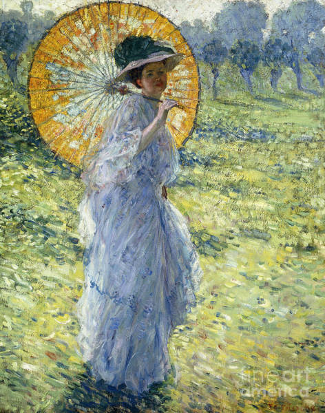 Parasol Painting - Woman With A Parasol by Frederick Carl Frieseke