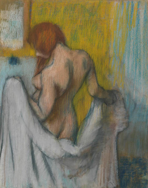 Pastel - Woman With A Towel by Edgar Degas