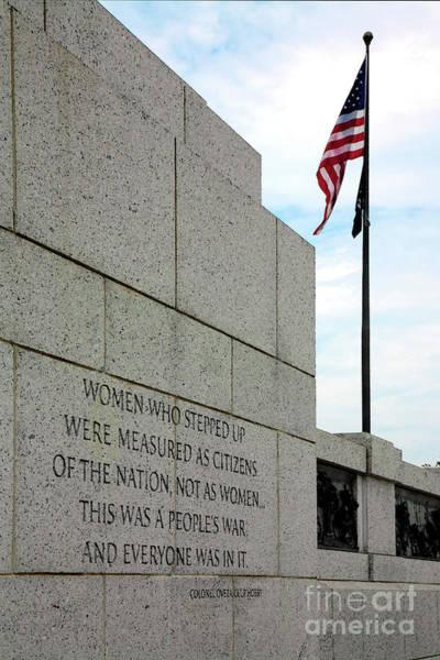 Digital Art - Women At War At The World War II Memorial In Washington Dc by William Kuta