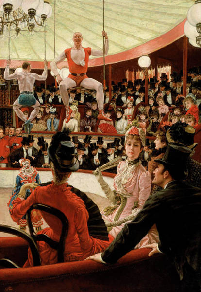 Painting - Women Of Paris - The Circus Lover by James Tissot