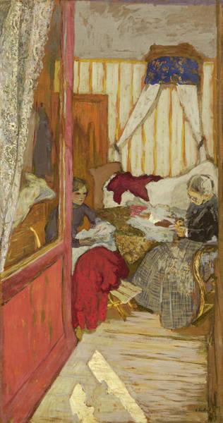 Sewer Painting - Women Sewing by Edouard Vuillard