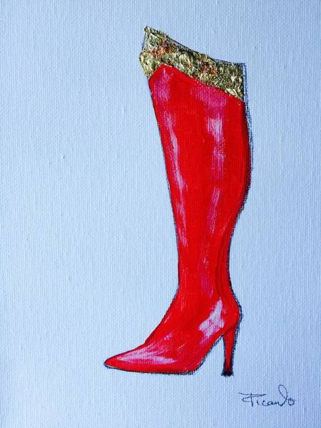 Painting - Wonder Woman's Boot by Holly Picano