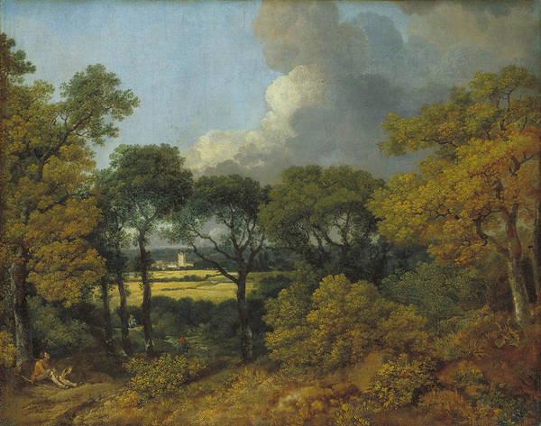 Thomas Gainsborough Wall Art - Painting - Wooded Landscape With A Peasant Resting by Thomas Gainsborough