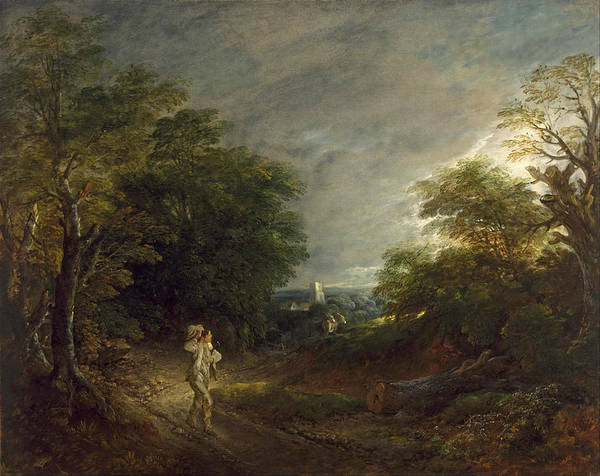 Thomas Gainsborough Wall Art - Painting - Wooded Landscape With A Woodcutter by Thomas Gainsborough