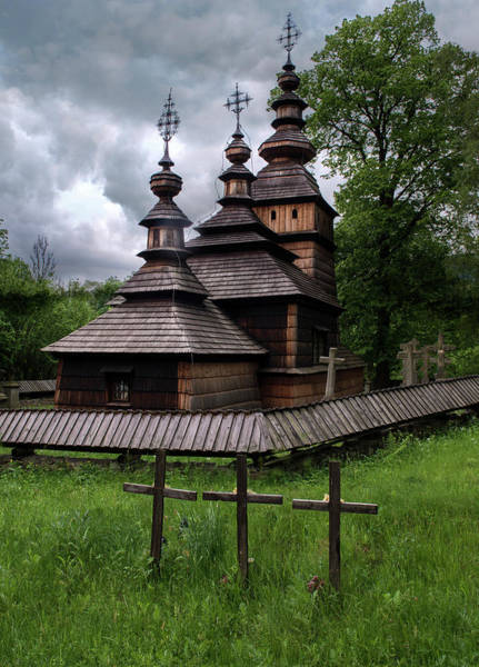 Wall Art - Photograph - Wooden Church Of St. Kosma And Damian by Jaroslaw Blaminsky