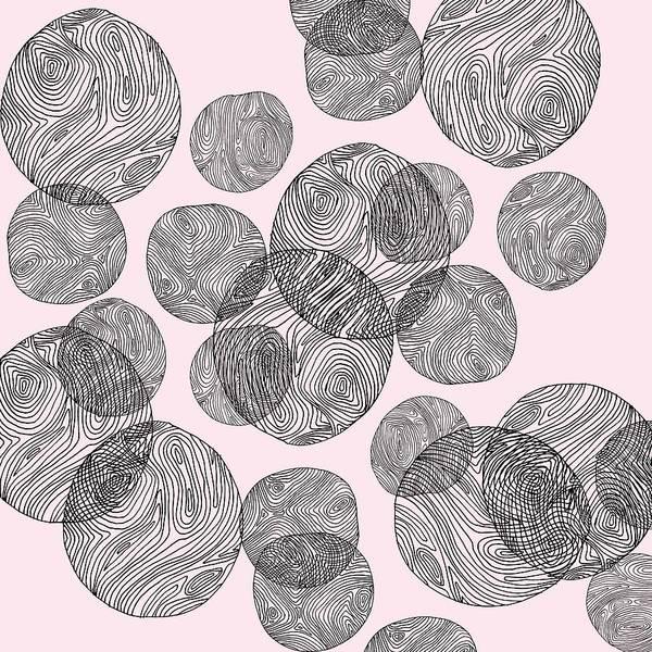 Drawing - Woodprint Pattern by Cortney Herron