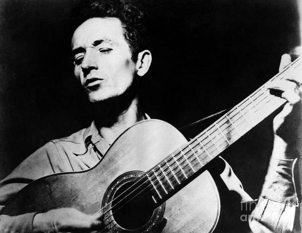 Photograph - Woody Guthrie (1912-1967) by Granger