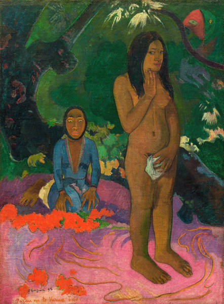 Wall Art - Painting - Words Of The Devil by Paul Gauguin