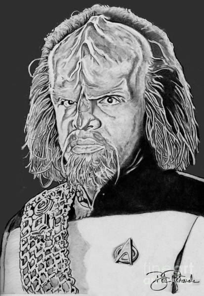 Drawing - Worf by Bill Richards