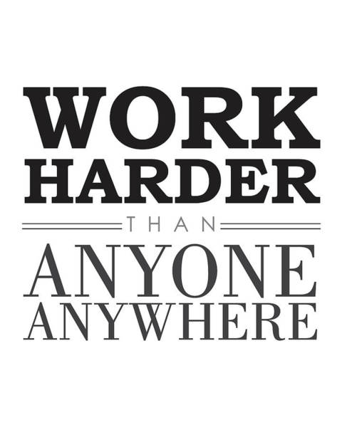 Motivation Mixed Media - Work Hard - Motivational Quote by Studio Grafiikka