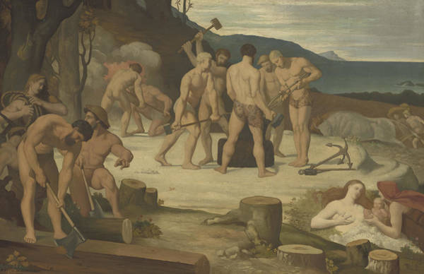 Worker Painting - Work by Pierre Puvis de Chavannes