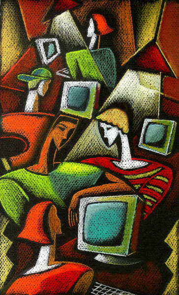 Wall Art - Painting - Working Together by Leon Zernitsky