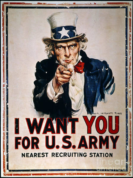 Photograph - World War I: Uncle Sam by Granger