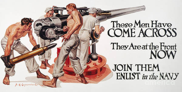 Painting - World War I: U.s. Poster by Granger