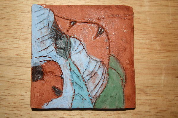 Ceramic Art - Worship - Tile by Gloria Ssali