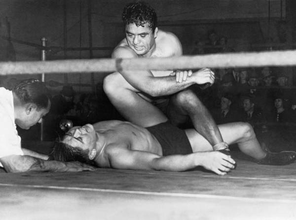 Christy Photograph - Wrestling Champion Jim Londos by Underwood Archives