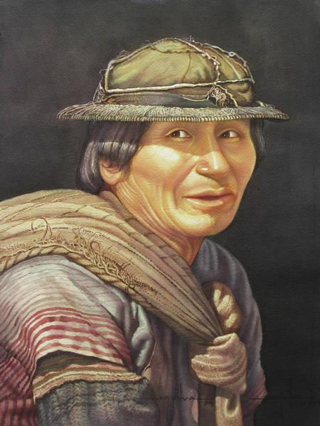 Bolivia Painting - Ws1979bo001potosi Pedro 14x20 by Alfredo Da Silva