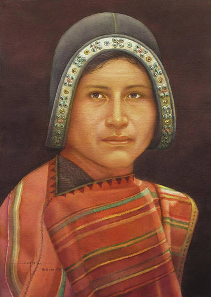 Bolivia Painting - Ws1979bo011sucre Roberto 14x20 by Alfredo Da Silva