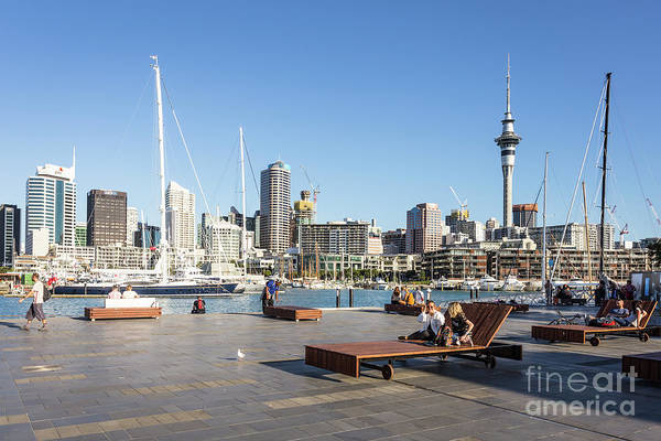 Photograph - Wynyard Quarter, Auckland's Newest And Tendy Waterfront Neighbou by Didier Marti