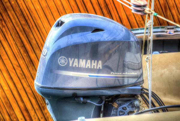 Outboard Engine Photograph - Yamaha 70 Outboard Motor by David Pyatt