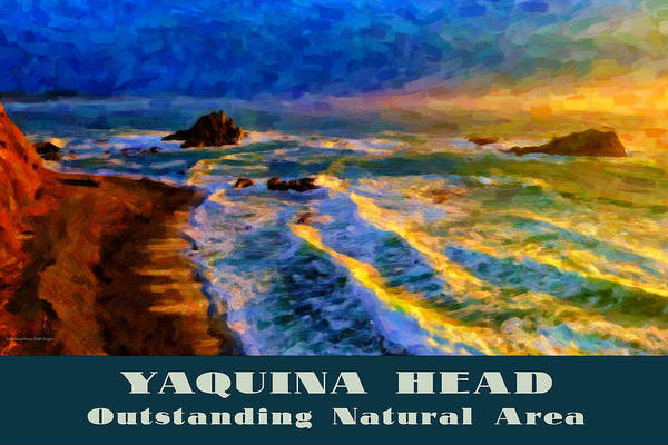 Digital Art - Yaquina Head Outstanding Natural Area by Chuck Mountain