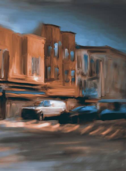 Chinatown Painting - Yellow Corner China Town Powell by Mawra Tahreem