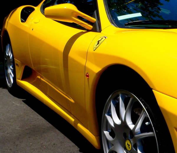 Yellow Ferrari Art Print