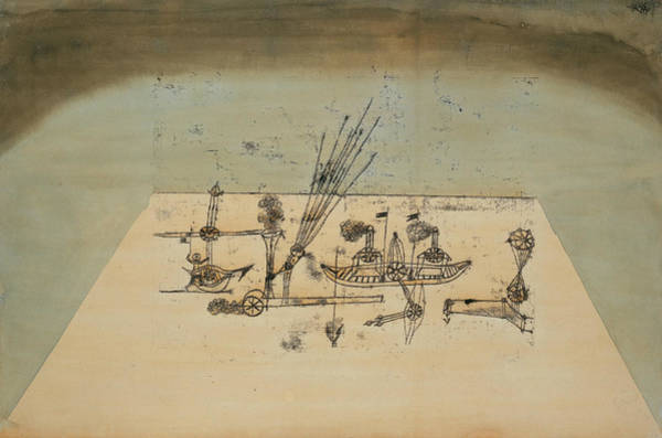 Drawing - Yellow Harbor by Paul Klee