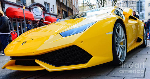 Photograph - Yellow Lamborghini by Colin Rayner